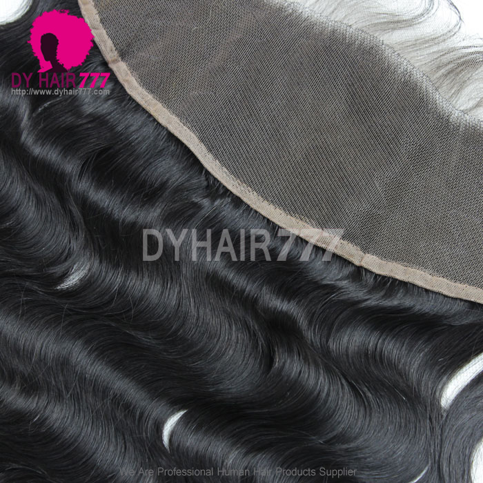Ear to Ear 13*4 Lace Frontal Closure Human Virgin Hair Body Wave Natural Color