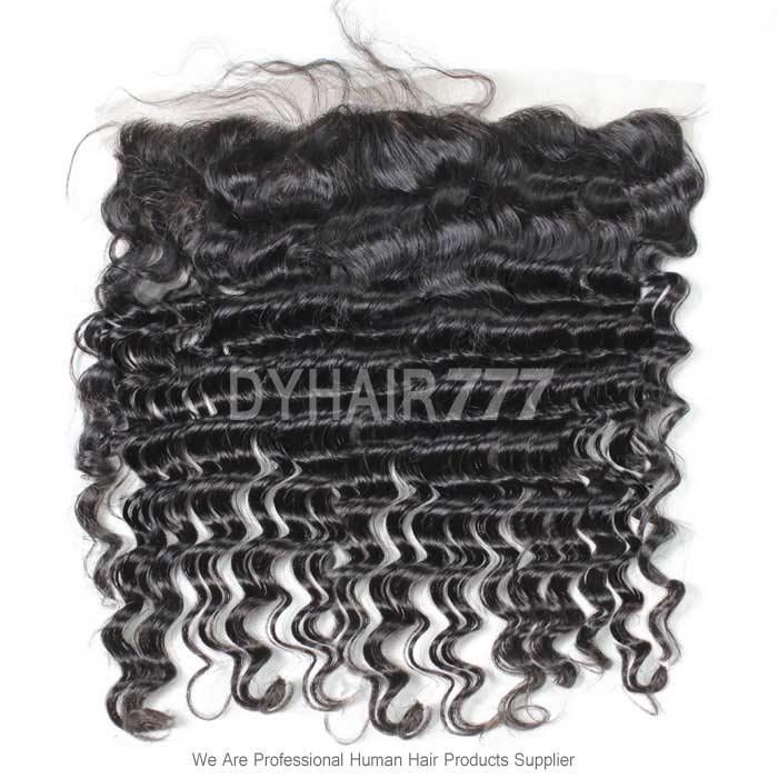 Silk Base Frontal (13*4) Deep Wave Virgin Human Hair Top Closure