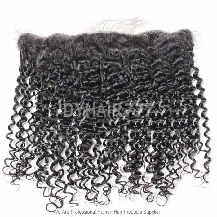 Silk Base Frontal (13*4) Deep Curly Wave Virgin Human Hair Top Closure