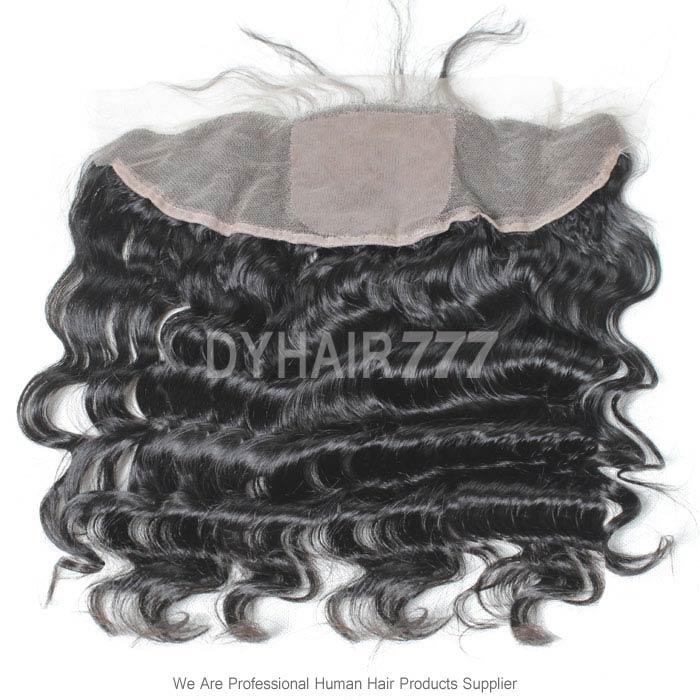 Silk Base Frontal (13*4) Loose Wave Virgin Human Hair Top Closure