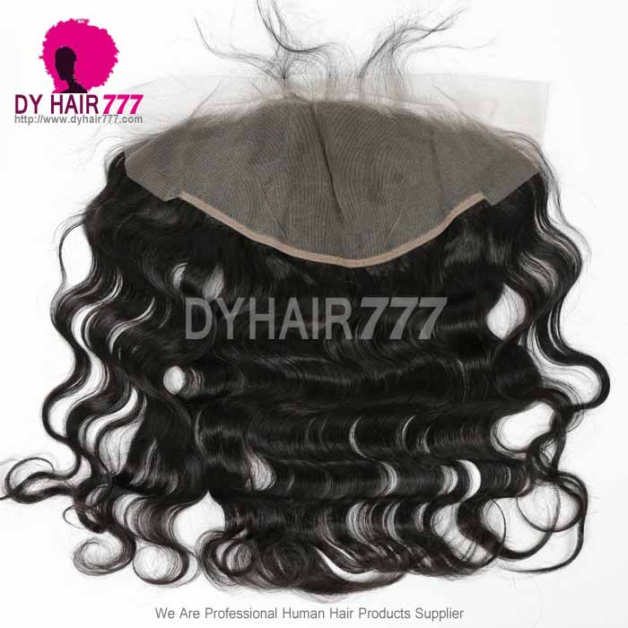 Ear to Ear 13*6Lace Frontal Closure Curved Lace Body Wave Human Virgin Hair Natural Color