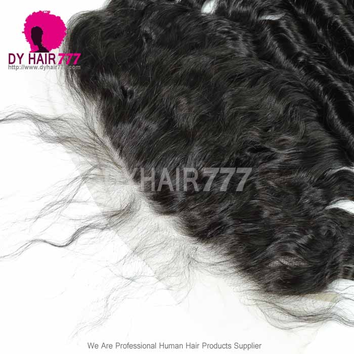 Ear to Ear 13*6Lace Frontal Closure Curved Lace Loose Wave Human Virgin Hair Natural Color