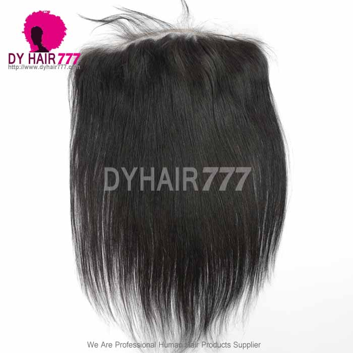 Ear to Ear 13*6Lace Frontal Closure Curved Lace Straight Human Virgin Hair Natural Color