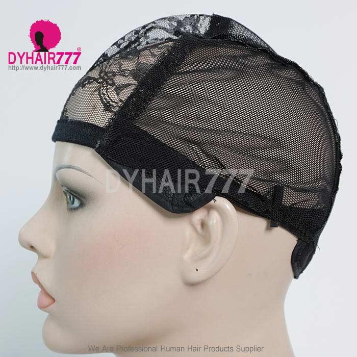 Adjustable Wig Cap with straps 1PCS Black/Gold color (leave message of color ,orby random)