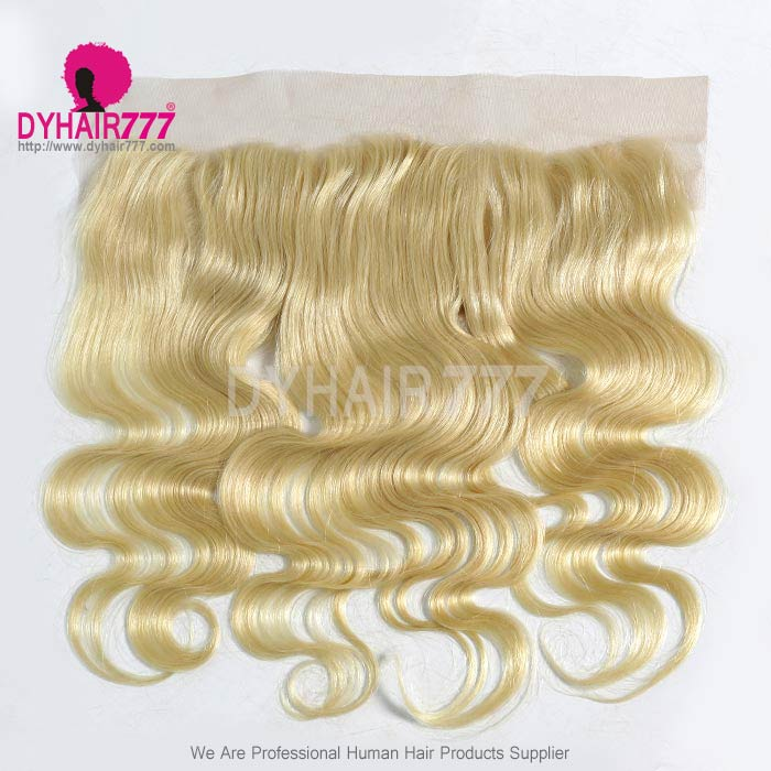 #613 Blonde Frontal 13*4Lace Frontal Closure Body Wave Virgin Human Hair
