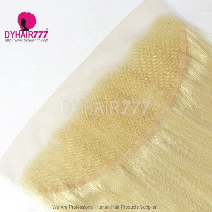 #613 Blonde Frontal 13*4 Lace Frontal Closure Straight Hair Virgin Human Hair