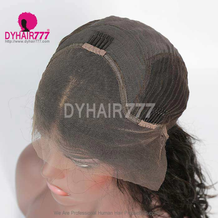 150% Density Centre Part Short Bob Wig Natural Wave 100% Human Hair Natural Color