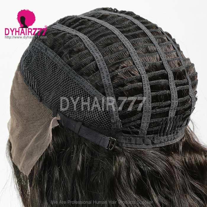 1B# Royal Virgin Human Hair Body Wave Lace Front Wigs With Bangs