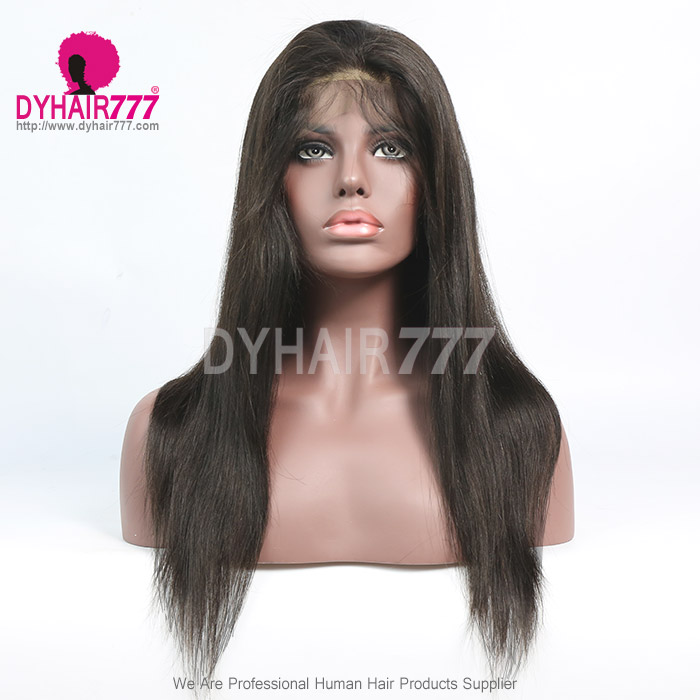180% density Top Quality Virgin Human Hair Straight Full Lace Wigs