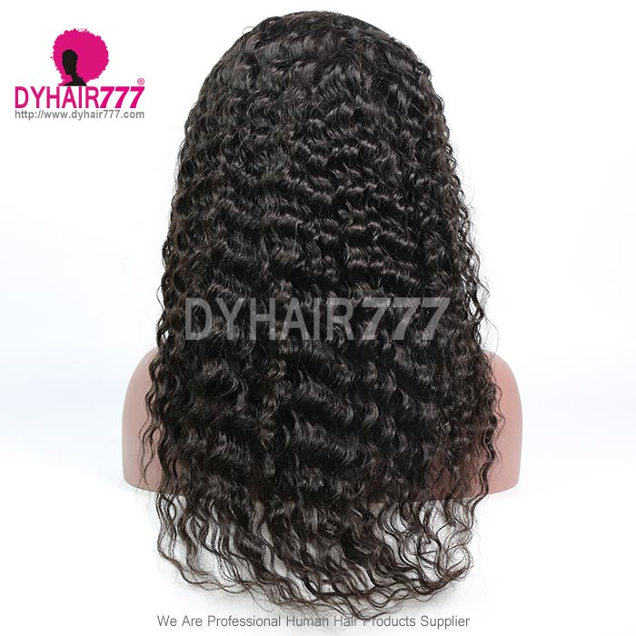 180% density Top Quality Virgin Human Hair Deep Wave Full Lace Wigs
