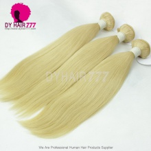 Color 613 Bleach Blonde 1 Bundle European Human Hair Straight Double Weft Extensions