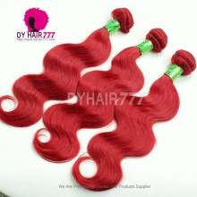 Fashion Red Color European Remy Hair Extensions More Wave Rihanna Superstar Style