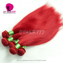 1 Bundle Amazing Red Color European Remy Hair Extensions 1 Bundle Silk Straight Fashion Style