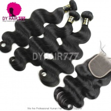 Best Match Top Lace Closure With 3 or 4 Bundle Royal Virgin Hair European Body Wave Human Hair Extenion