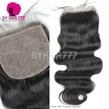 Silk Base Closure (4*4) Body Wave Virgin Hair Top Closure Freestyle Free Part Middle Part Two Part Three Part