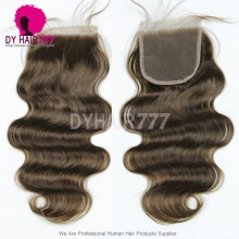 Lace Top Closure (4*4) Body Wave Human Virgin Hair Free Part Middle Part Two Part Three Part 4#