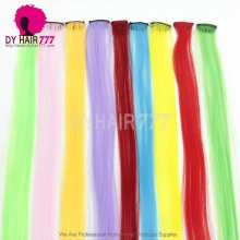 Fashion Color Straight Hair Extension Piece With Clip