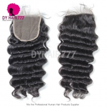 5* 5 Lace Top Closure Loose Wave Natural Color Virgin Human Hair