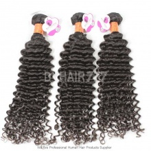 Unprocessed 3 or 4 Bundles Virgin Hair Royal Burmese Deep Curly Wave Human Hair Extension