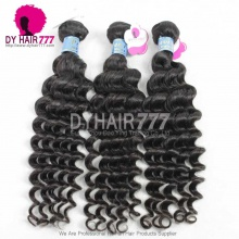 3 or 4pcs a lot Royal Peruvian Virgin Hair Deep Wave Human Hair Extension