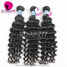 3or4pcs a lot Royal PeruvianVirgin Hair Deep Wave Human Hair Extension