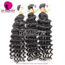 3 or 4 pcs/lot Cheap Indian Standard Hair Weave Deep Wave 100% Human Vigin Hair Extensions