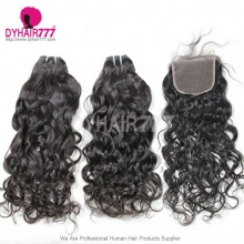 Best Match Top Lace Closure With 3 or 4 Bundles Brazilian Natural Wave Royal Virgin Human Hair Extensions