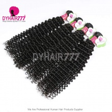 3 or 4 pcs/lot Standard Virgin Malaysian Hair Extensions Deep Curly