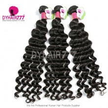 3 or 4 Bundles Standard Malaysian Hair Bundles Deep Wave Virgin Hair Extensions