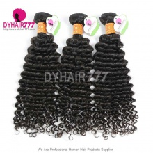 3 or 4pcs/lot Bundle Deals Unprocessed Virgin Indian Standard Hair Deep Curly Weavy