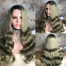 Full Lace Wig 200% Density Human Hair Customize Wig 7 Working Days Ready GCBW45-F