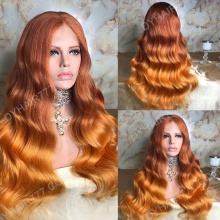 Full Lace Wig 200% Density Human Hair Customize Wig 7 Working Days Ready QBLW47-F