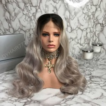 Lace Front Wig 150% Density Human Hair Customize Wig 7 Working Days Ready LWGC22-L