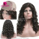 130% Human hair silk base top closure lace front wigs loose wave natural color