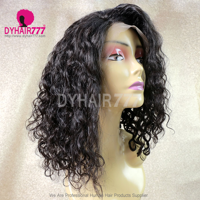 180% density Top Quality Virgin Human Hair Blunt Cut Curly Lace Front Wigs LFW-BCC