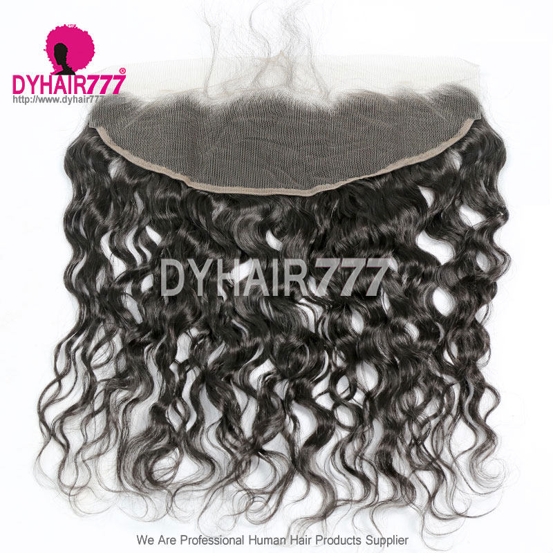 Ear to Ear 13*4 Lace Frontal Closure Virgin Human Hair Natural Wave Natural Color