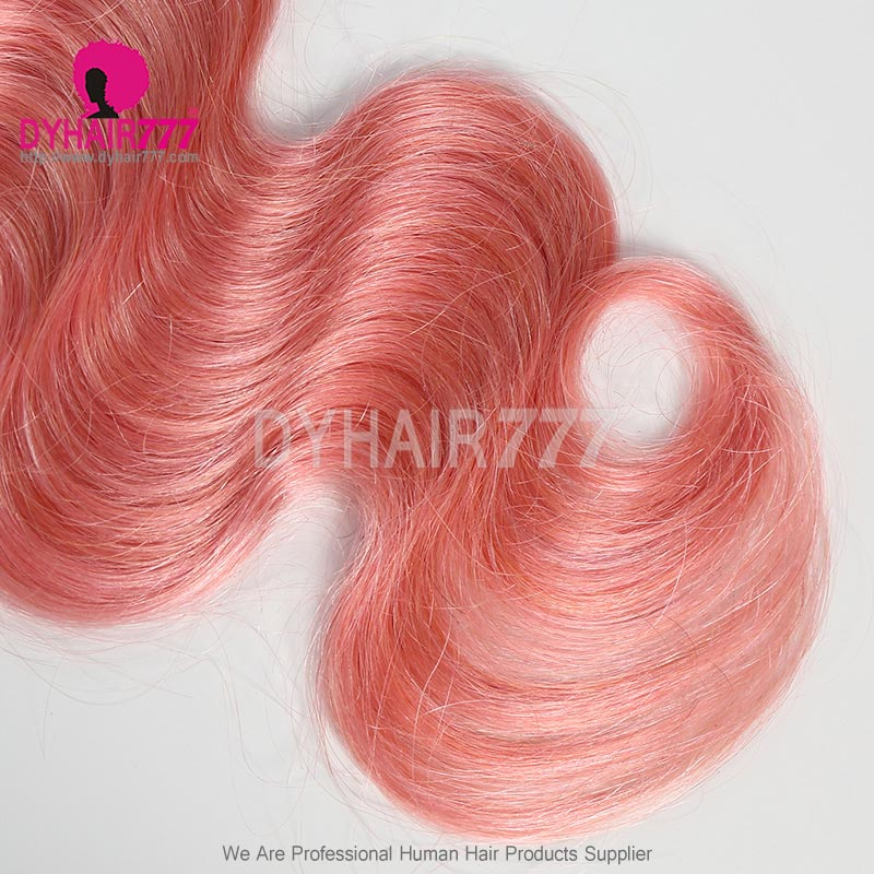 Ombre 1B/Pink Royal 1 Bundle Virgin Brazilian Body Wave Human hair Extension