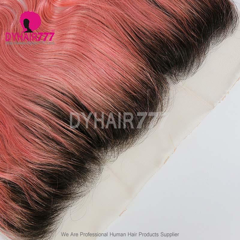 1B/Pink Frontal 13*4Lace Frontal Closure Body Wave Virgin Human Hair