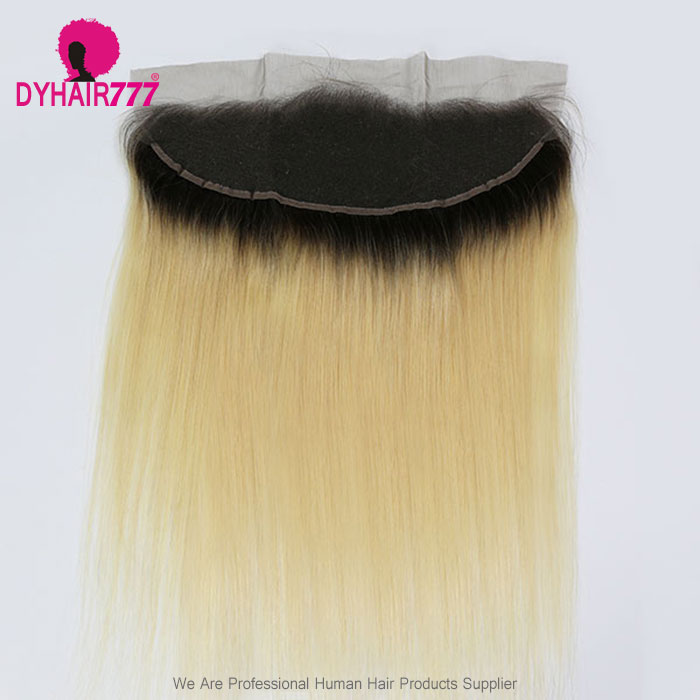 Color 1B/613 Blonde Frontal 13*4 Lace Frontal Closure Straight Hair Virgin Human Hair