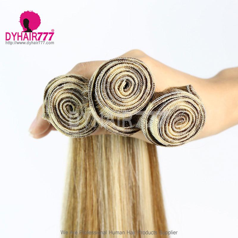 1 Bundles P8/613 Straight Brazilian Hair 100% Virgin Human Hair