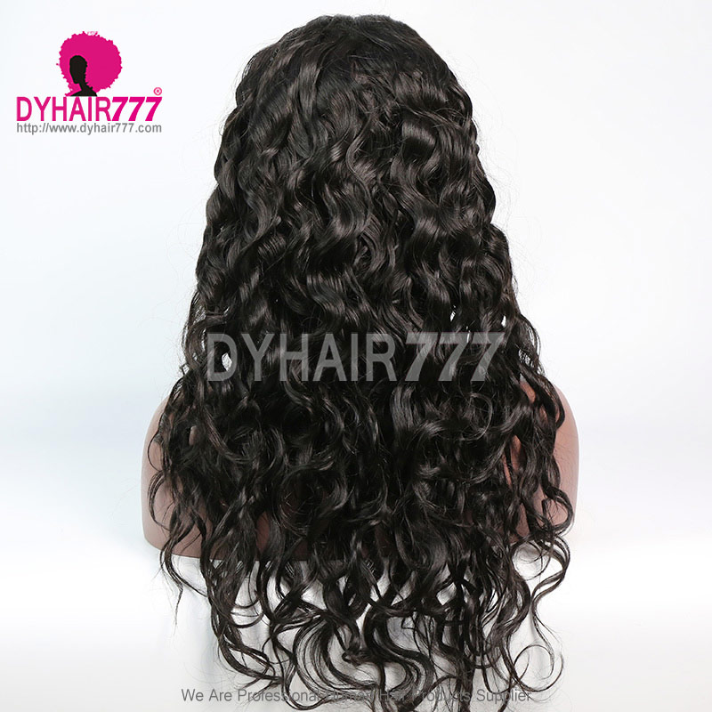 180% density Top Quality Virgin Human Hair Natural Wave Lace Front Wigs