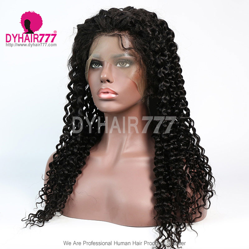 180% density Top Quality Virgin Human Hair Natural Wave Full Lace Wigs