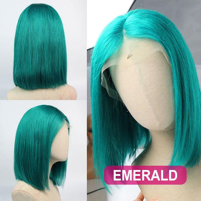 150% Density Blunt Wig Bob Wig Straight Hair 100% Human Hair Lace Wig