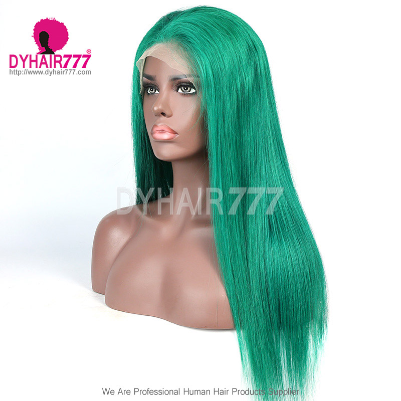 Color Wig 130% density Virgin Human Hair Straight Lace Front Wigs With Nautal Hairline