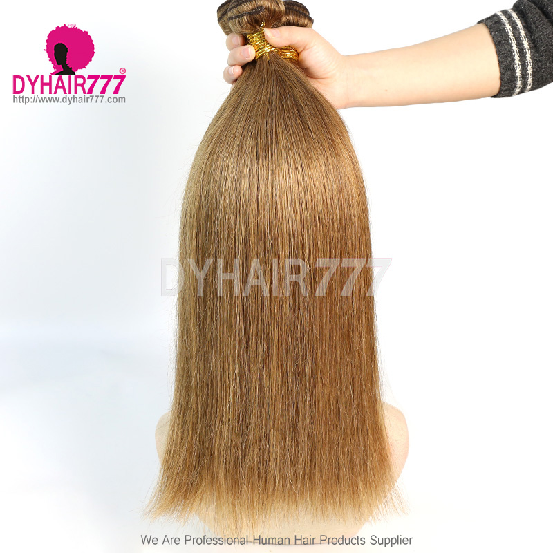 1 Bundles Color 8 Straight Brazilian Hair 100% Virgin Human Hair