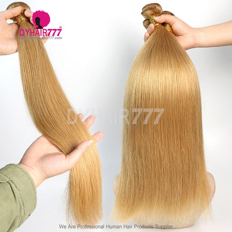 1 Bundles Color 27 Straight Brazilian Hair 100% Virgin Human Hair