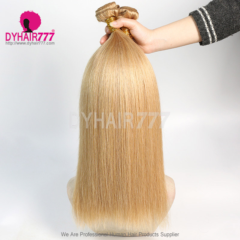 2or3 Bundles With Free Part 4x4 Lace Closure Color 520 Straight Brazilian Hair 100% Virgin Human Hair