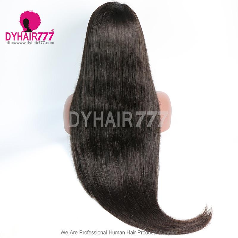 Closure With Bundle Wig 250% Density Lace Wig Straight Hair 100% Virgin Human Hair