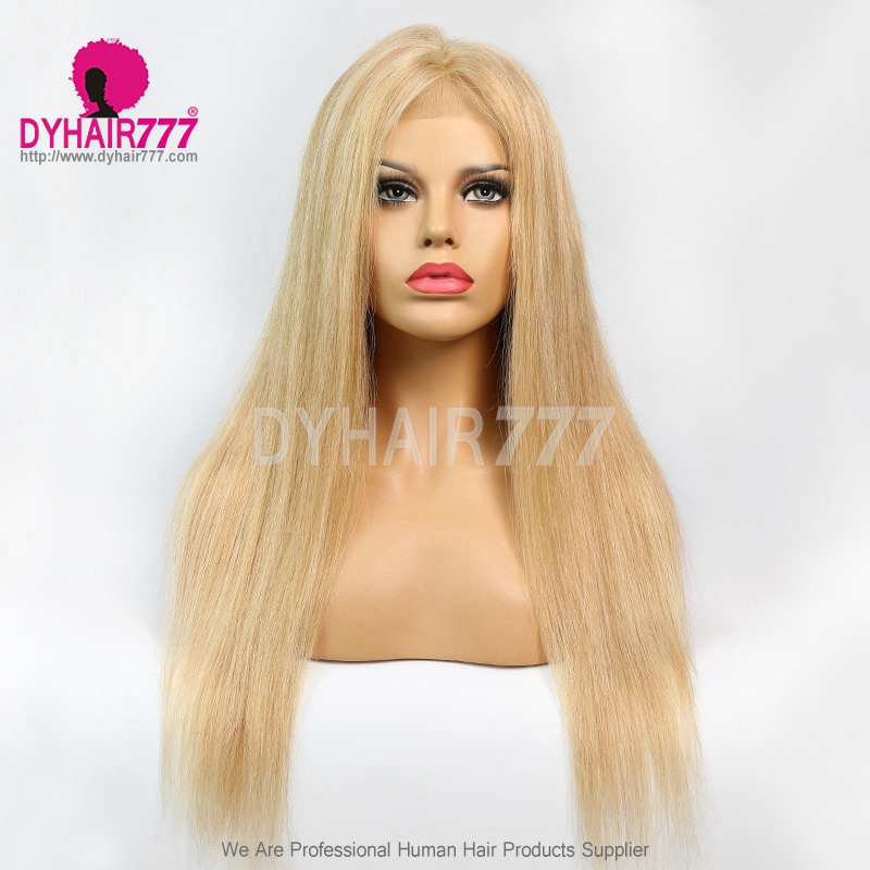 Closure Wig 180% Density Color P10/24 Lace Wig Straight Hair 100% Virgin Human Hair