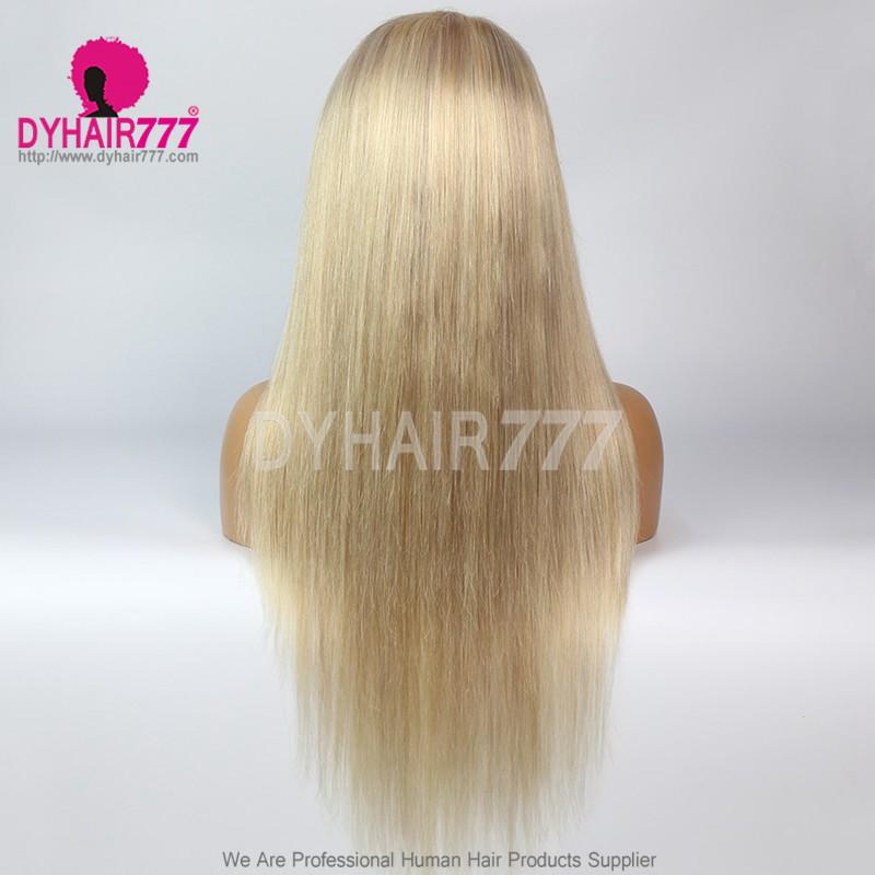 Closure Wig 180% Density Color P18/613 Lace Wig Straight Hair 100% Virgin Human Hair